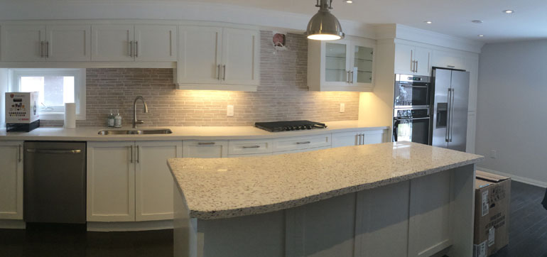 Custom Painted MDF Kitchen Cabinets