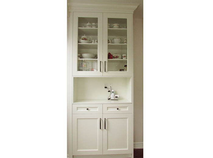 Made to measure cabinet fits perfectly and adds extra storage space
