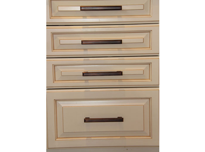 Dovetailed solid maple drawers