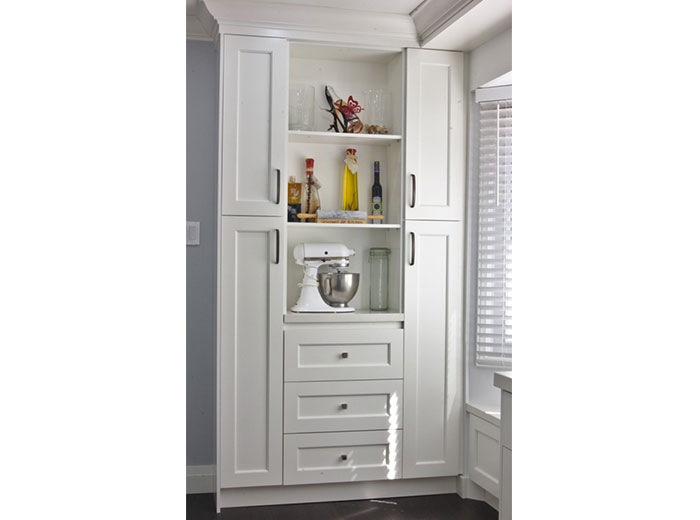 Custom cabinetry for additional storage