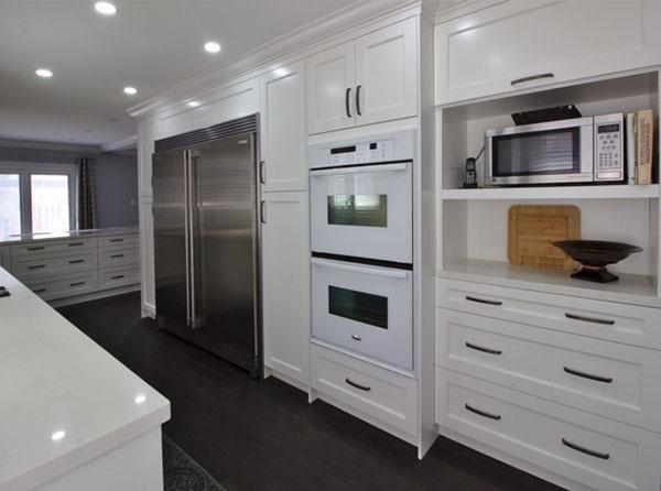 Custom built in appliance cabinets