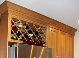 Custom wine rack and pantry