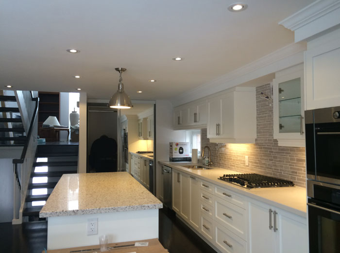 Painted MDF Custom Kitchen Cabinets