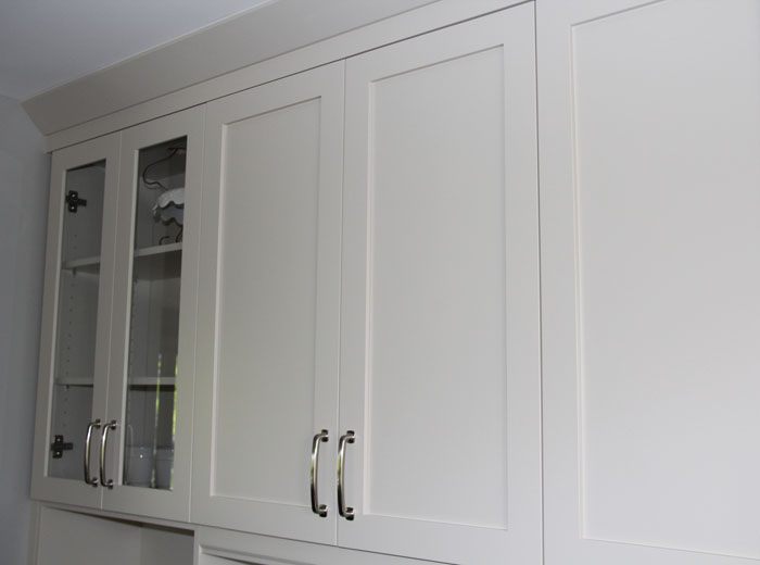 Shaker Style Cabinets with Glass Cabinet Doors