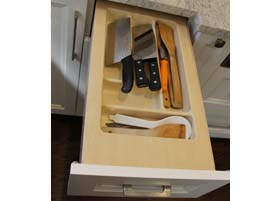 Custom kitchen utensil drawer