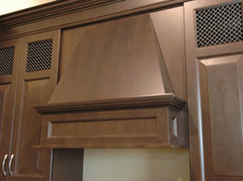 Custom kitchen hood - espresso colour