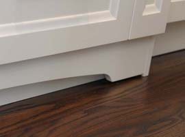Decorative Custom Cabinet Baseboards