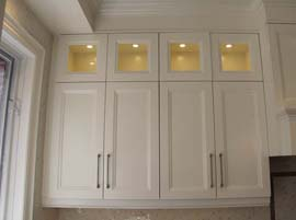 Glass Doors with Interior Cabinet Lighting