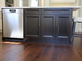 Kitchen Island Stained in Dark Chocolate Solid Wood