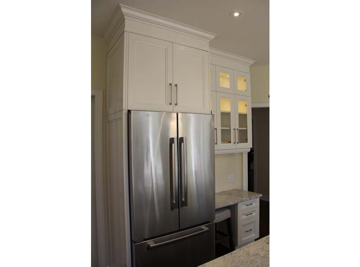 Custom cabinets fridge enclosure