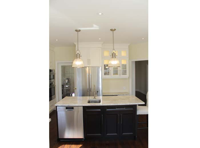 Custom kitchen with free standing island